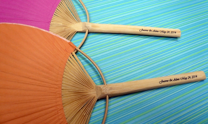 Personalized Paddle Fans W Handle Print 10 Pack Custom