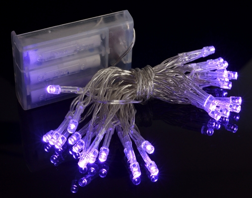 purple led mini string lights battery operated 11ft 85931