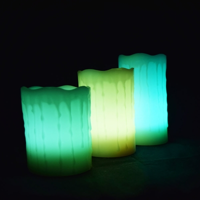 Blowout Realistic Wax Drip 12 Color Flameless Led Candle