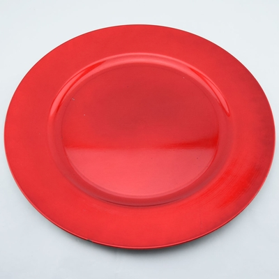 Red Heavy Duty Charger Plate 13 Inch From