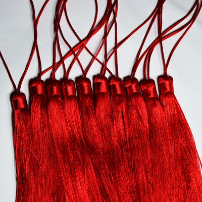 Red Tassel Hanging Ornament Accessory For Paper Lanterns
