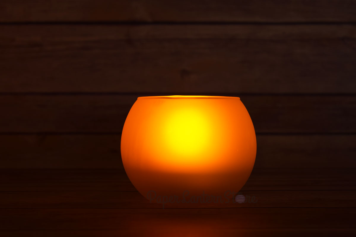 Round tea light flameless led candle in frosted glass for Warm cheap places to live