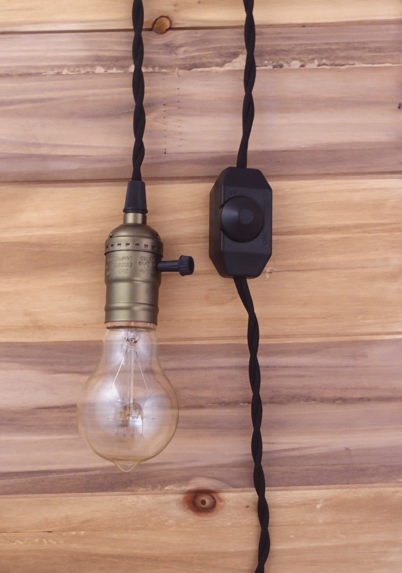 single copper socket vintage pendant light cord w dimmer. Black Bedroom Furniture Sets. Home Design Ideas
