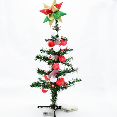 small 18 multi color changing led lighted desktop christmas tree with stand battery operated