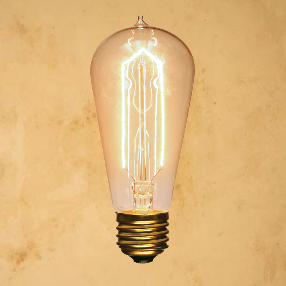 St58 Edison Bulb Cathedral Vintage Antique Incandescent Filament Standard 40w Tungsten