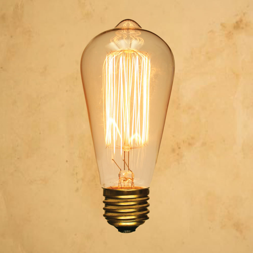 St64 Edison Style Light Bulb Squirrel Cage Vintage Antique Incandescent Filament Standard