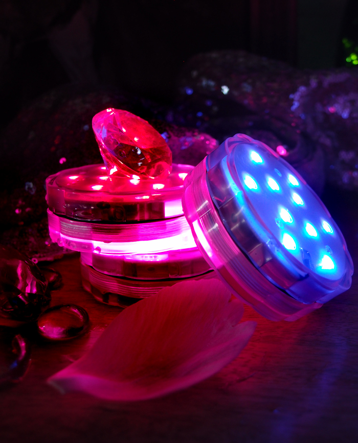 Fairy String Lights Submersible Waterproof Battery Pack Led Cool White : Submersible LED Waterproof Floral Vase Lights w/ Remote Controls (RGB) eBay