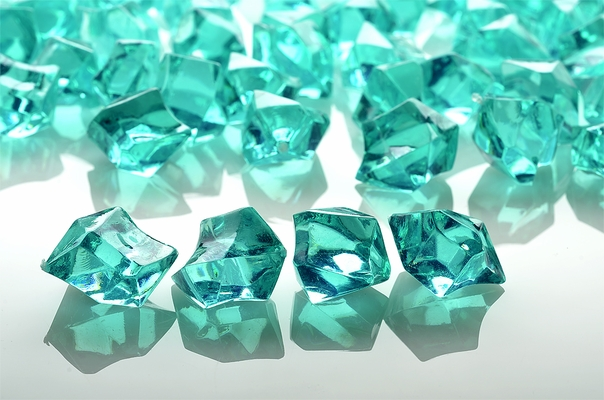Teal Green Gemstones Acrylic Crystal Wedding Table Scatter