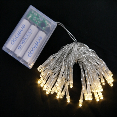 Warm White LED Battery Powered Mini Lights from PaperLanternStore at the Best Bulk Wholesale Prices.