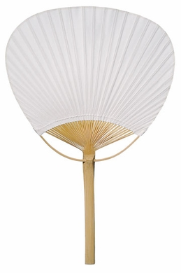 9 white paddle paper hand fans for weddings 10 pack on sale now oriental paper folding - Japanese paddle fan ...