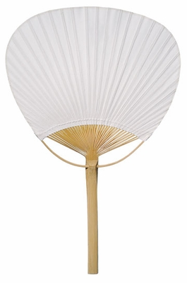 9 Quot White Paddle Paper Hand Fans For Weddings 10 Pack