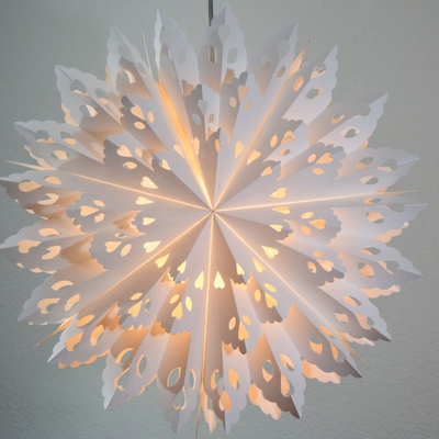 24 Quot White Winter Wreath Snowflake Paper Star Lantern