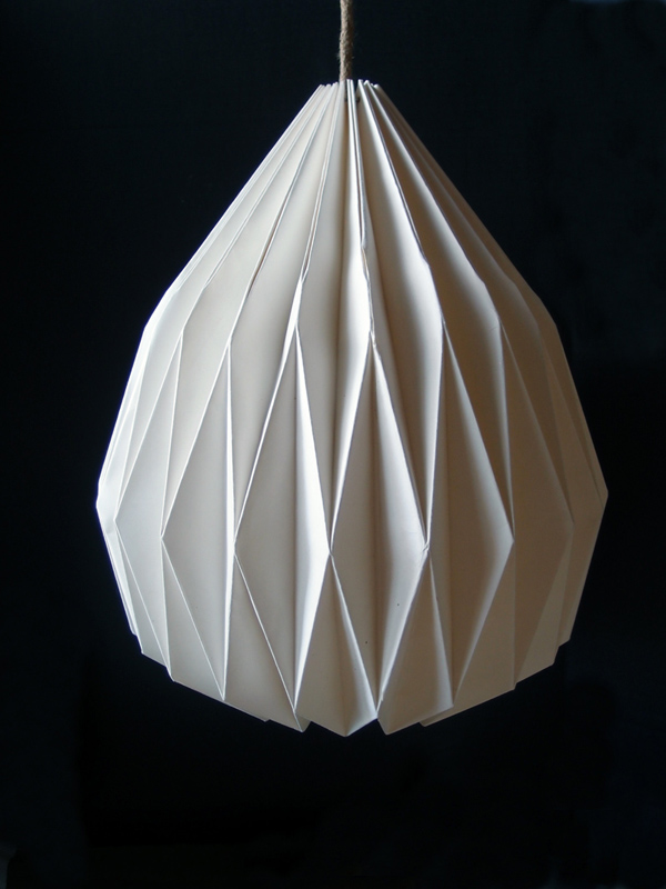 Paper Lamp Shades : White teardrop paper shade