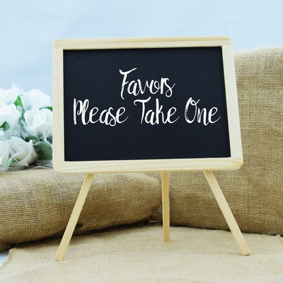 Wooden chalkboard easel stand table sign inch for Sideboard x7