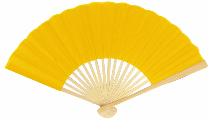 9 Inch Yellow Silk Hand Fans For Weddings 10 Pack On Sale Now Oriental Paper