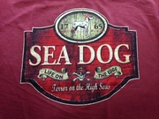 Sea Dog Logo T-Shirt ON WASHED ORANGE OUT OF STOCK