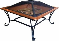 Asia Direct AD213 Square Copper Fire Pit
