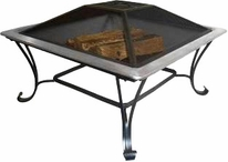 Asia Direct AD213S Stainless Steel Square Fire Pit