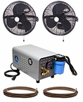 Aeromist High Pressure Misting Fan System Enclosed Pump