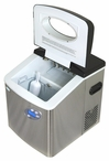 Portable Ice Maker by NewAir AI-215SS Stainless/Black