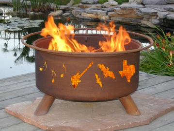 Austin Texas Fire Pit Patina F984 Exclusive Patio Comforts