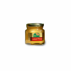 1.75 oz. Freeze-dried fruit Creamed Honey, Glass Hex Jar