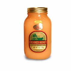 3 lb. Flavored Creamed Honey, Glass Jar
