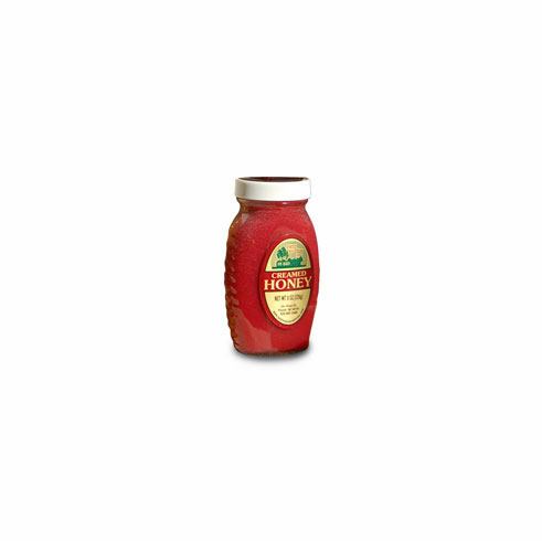 8oz., Freeze-dried fruit Creamed Honey, Glass Jar