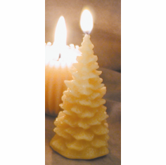 Beeswax Candle - Christmas Tree Small