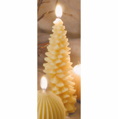 Beeswax Candle - Christmas Tree, Tall