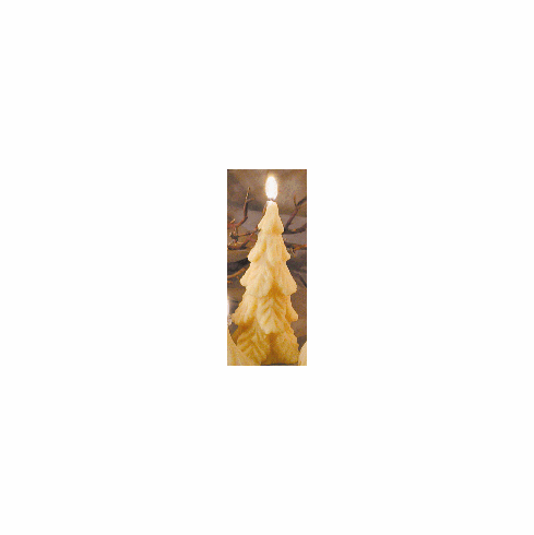Beeswax Candle - Christmas Tree, Tall, Smooth Finish