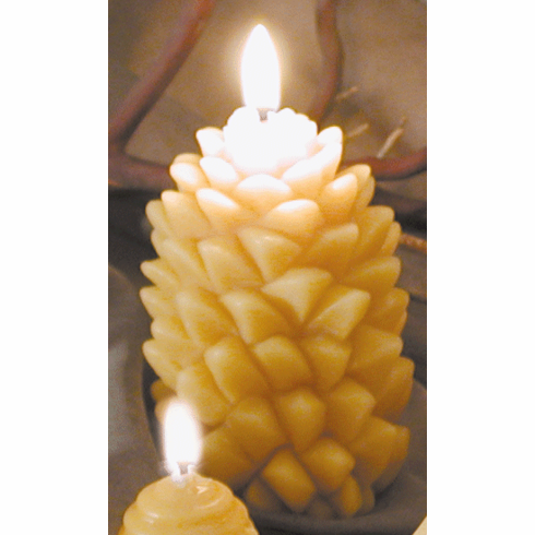 Beeswax Candle ---- Fir Cone