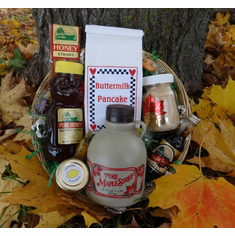 Maple Syrup, Honey, & Mustard Gift Basket
