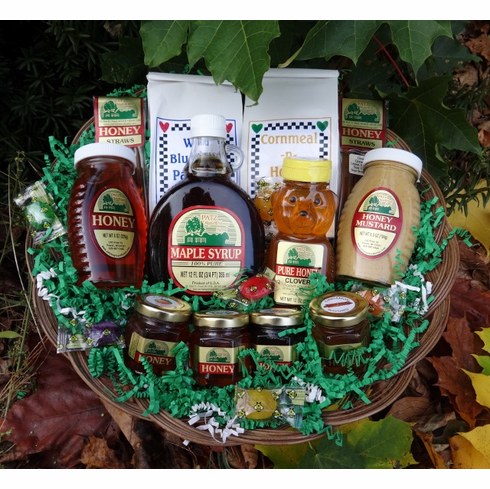 Maple Syrup, Honey,  Pancake & Mustard Gift Basket
