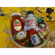 Maple Syrup, Maple Candy, Honey & Mustard Gift Basket
