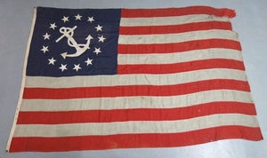 19th C. 13 Star Commodore Ensign Flag Marblehead Yacht Club
