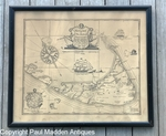 Antique 1921 Austin Strong Nantucket Map