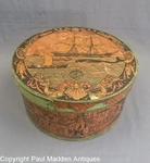 Antique Nantucket Tony Sarg Decorated Box with Whaling Scene