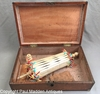Antique Scrimshaw Double Swift Inlaid Box