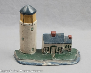 Vintage Cast Iron Lighthouse Doorstop