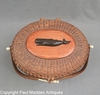 "Vintage Nantucket Lightship Basket 8"" Purse by Jose Formosa Reyes"