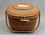 Nantucket Lightship Basket Purse by Stanley Roop 1968