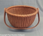 Vintage Nantucket Lightship Basket Signed Bill R 1971