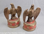 Vintage Pair of Eagle Bookends by Marion Brothers