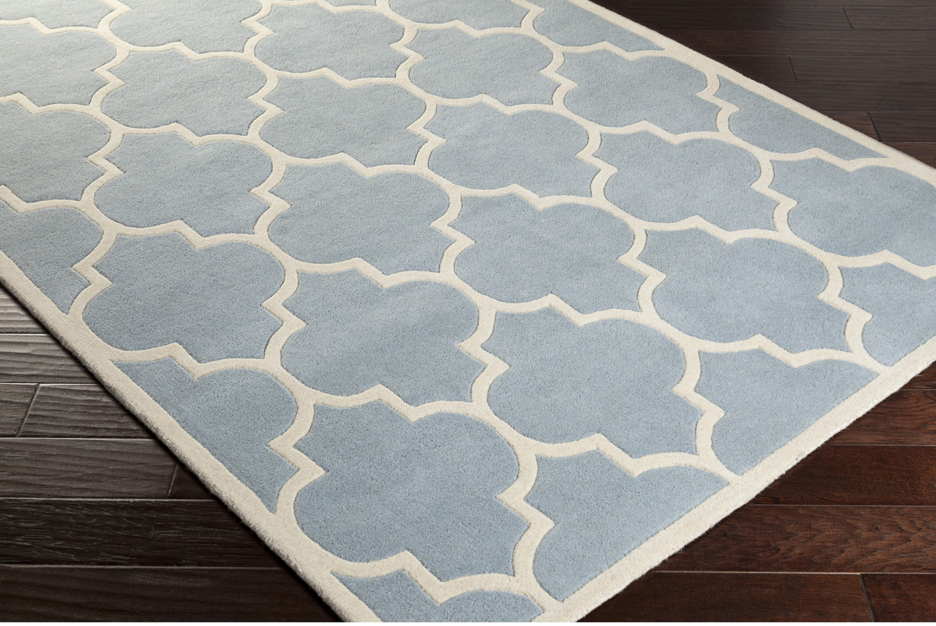 Blue and white area rug district17 ribbon area rug in for Blue and white area rugs