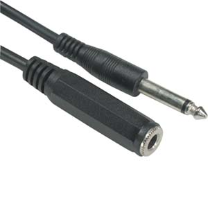 "1/4"" Mono Male / Female Extension Cables"