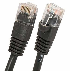 1 Foot Black Cat6 Molded Patch Cable (Network Cable)