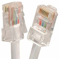 1 Foot Cat5E UTP Ethernet Network Non Booted Cable White - Ships from C
