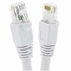 1 Foot Cat6A UTP 10 Gigabit Ethernet Network Booted Cable - White