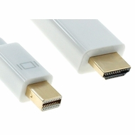 1 Foot Mini DisplayPort to HDMI Cable, with Audio Support